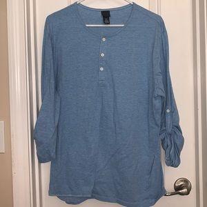 Blue H&M long sleeve shirt